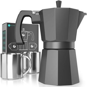 Coffee Gator Moka Pot, Stovetop Espresso Maker
