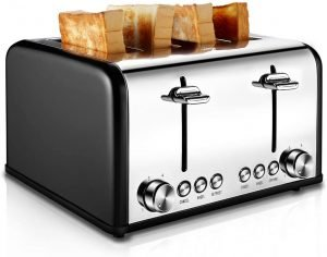 Cuisibox Stainless Steel 4 Slice Toaster
