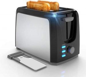 Evening 2 Slice Stainless Steel Bagel Toaster