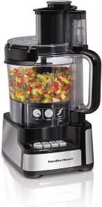 Hamilton Beach 12 Cup Stack & Snap Food Processor And Chopper