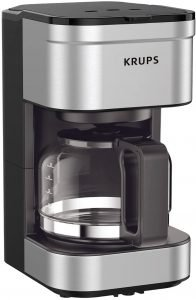 Krups 5 Cup Silver Compact Drip Coffee Maker