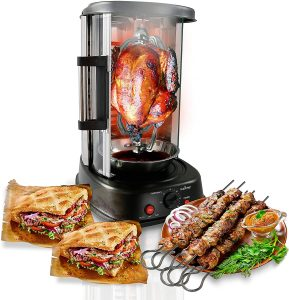 Nutrichef Countertop Rotating Oven