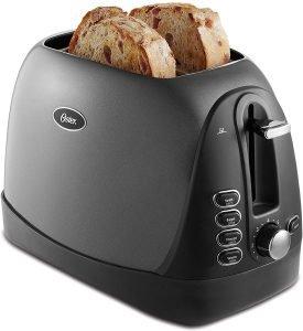 Oster 2 Slice Metallic Grey Toaster