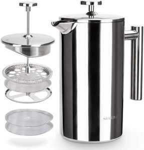 Secura Stainless Steel Insulated French Press