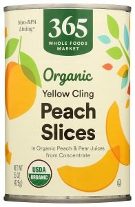 365 By Whole Foods Market Organic Yellow Cling Peach Slices