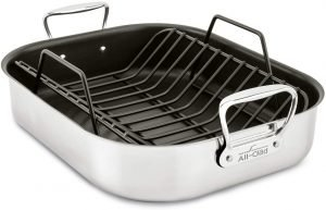All Clad E751s264 Stainless Steel Nonstick Roaster
