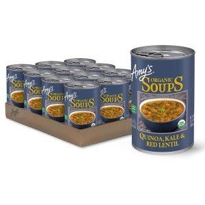Amy's Quinoa, Kale, And Red Lentil Soup