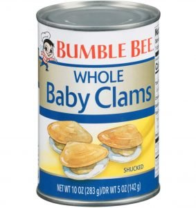 Bumblebee Whole Baby Clams