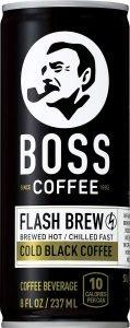 Boss Coffee Flash Cold Black Coffee