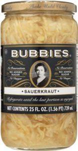 Bubbies Canned Sauerkraut