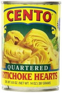 Cento Quartered 14 Ounce Artichoke Hearts