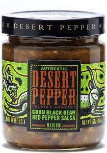 Desert Pepper Corn Black Bean Roasted Pepper Salsa