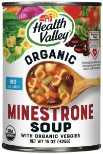 Health Valley Organic Soup, No Salt Added, Minestrone