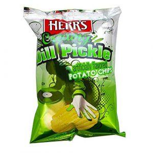 Herr's Creamy Dill Pickle Flavored Potato Chips