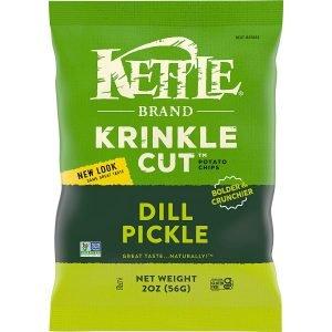 Kettle Brand Krinkle Cut Dill Pickle Chips