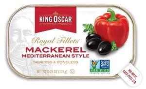 King Oscar Mediterranean Style Mackerel