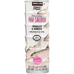 Kirkland Signature Canned Wild Alaskan Pink Salmon