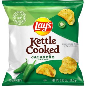 Lays Kettle Cooked Jalapeno Flavored Potato Chips