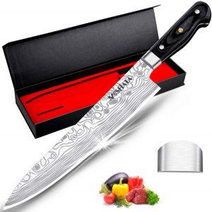 Mosfiata Chef Knife 10 Inch Super Sharp Professional Kitchen Knife