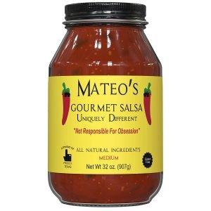Mateo's Gourmet Medium Hot Spicy Salsa Dip