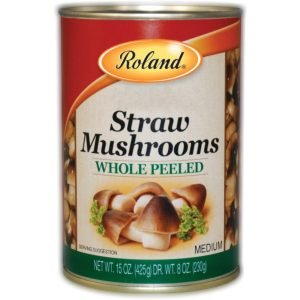 Roland Foods Canned Peeled Straw Mushrooms