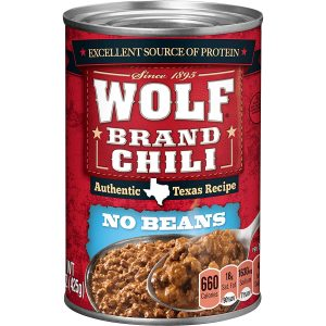 Wolf Canned Chili