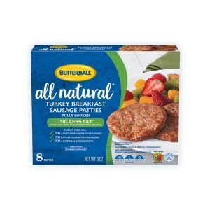 Butterball All Natural Fully Cooked Sausage Patties