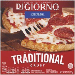 Digiorno Traditional Crust Pepperoni Small Sized Frozen Pizza