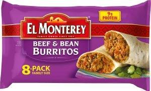 El Monterey Beef And Bean Burritos
