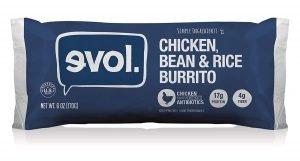 Evol Chicken Bean And Rice Burrito