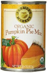 Farmer's Market Foods Organic Canned Pumpkin Pie Mix