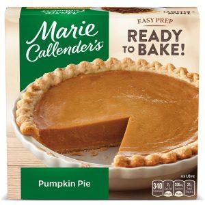 Marie Callender's Frozen Pie Dessert Pumpkin