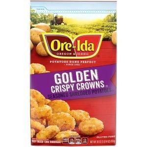 Ore Ida Frozen Golden Crispy Crowns Seasoned Shredded Potatoes