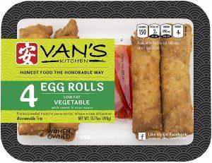 Van's Kitchen Egg Rolls With Vegetables