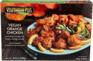 Vegetarian Plus, Frozen, Vegan Orange Chicken