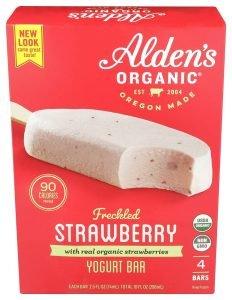 Alden's Organic Strawberry Yogurt Bars
