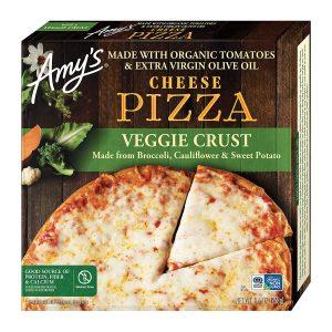 Amy's Frozen Cheese Pizza Organic Tomatoes Veggie Crust