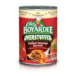 Chef Boyardee Overstuffed Italian Sausage Ravioli