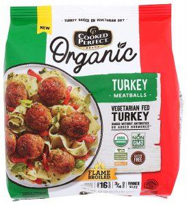 Cooked Perfect Organic Turkey Meatballs