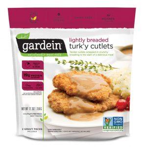 Gardein Lightly Breaded Plant Based Turkey Cutlets, Vegan