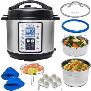 Yedi 9 In 1 Total Package Instant Programmable Pressure Cooker