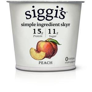 Siggi's Icelandic Strained Nonfat Yogurt, Peach
